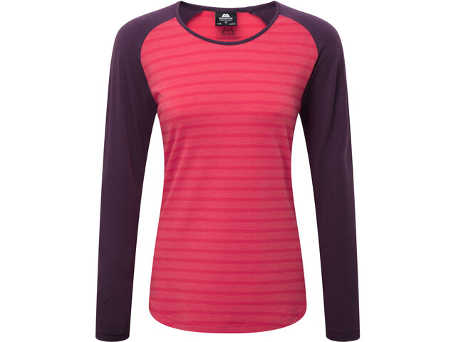 Mountain Equipment Redline Longsleeve T-shirt Dames, virtual pink stripe/blackberry